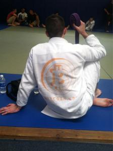 Roger Ver, a Brazilian jiu jitsu practitioner, has bitcoin emblazoned on the back of his gui
